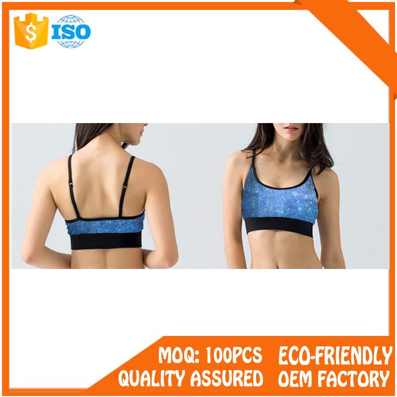 Sexy fitness athletic padded seamless women wholesale sports bra