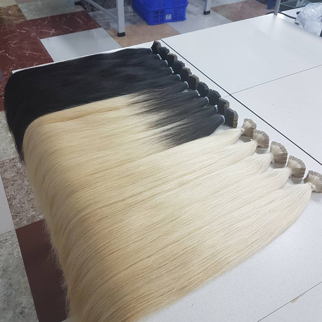 Tape hair extension color piano