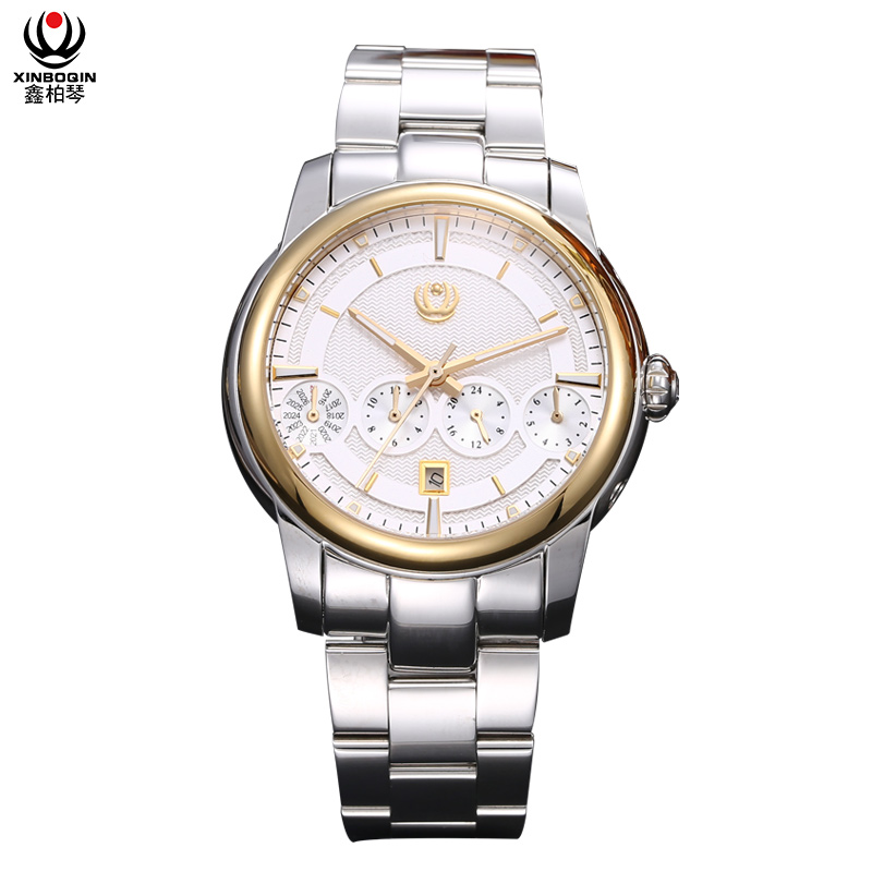 XINBOQIN Chinese Watch Factory Direct Sale Multifunction Mechanical Men's Watches Custom Watches OEM
