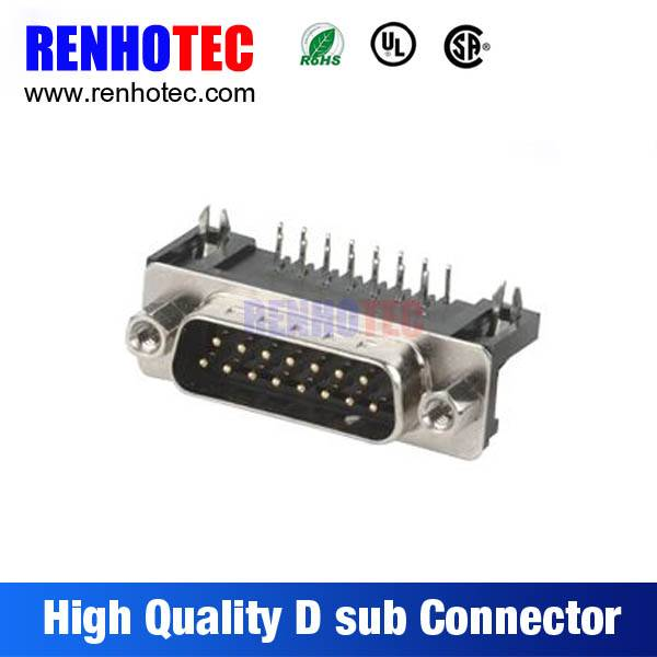 PC Accessories-Dip Solder PCB Mount 90 Degree Male 15 25 Pin D-Sub Connector