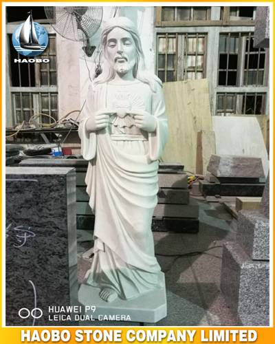 Marble Most Sacred Heart of Jesus Statue