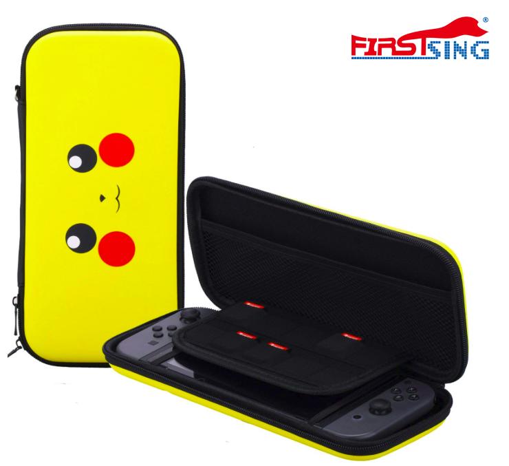 Firstsing Travel Carrying Pikachu Case Pokemon EVA Bag Nintendo Switch