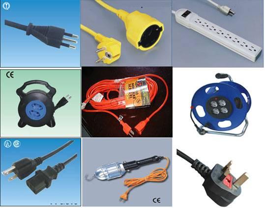 Ac Pvc Power Supply Extension Cable Cord Cordon Plug Cords Set