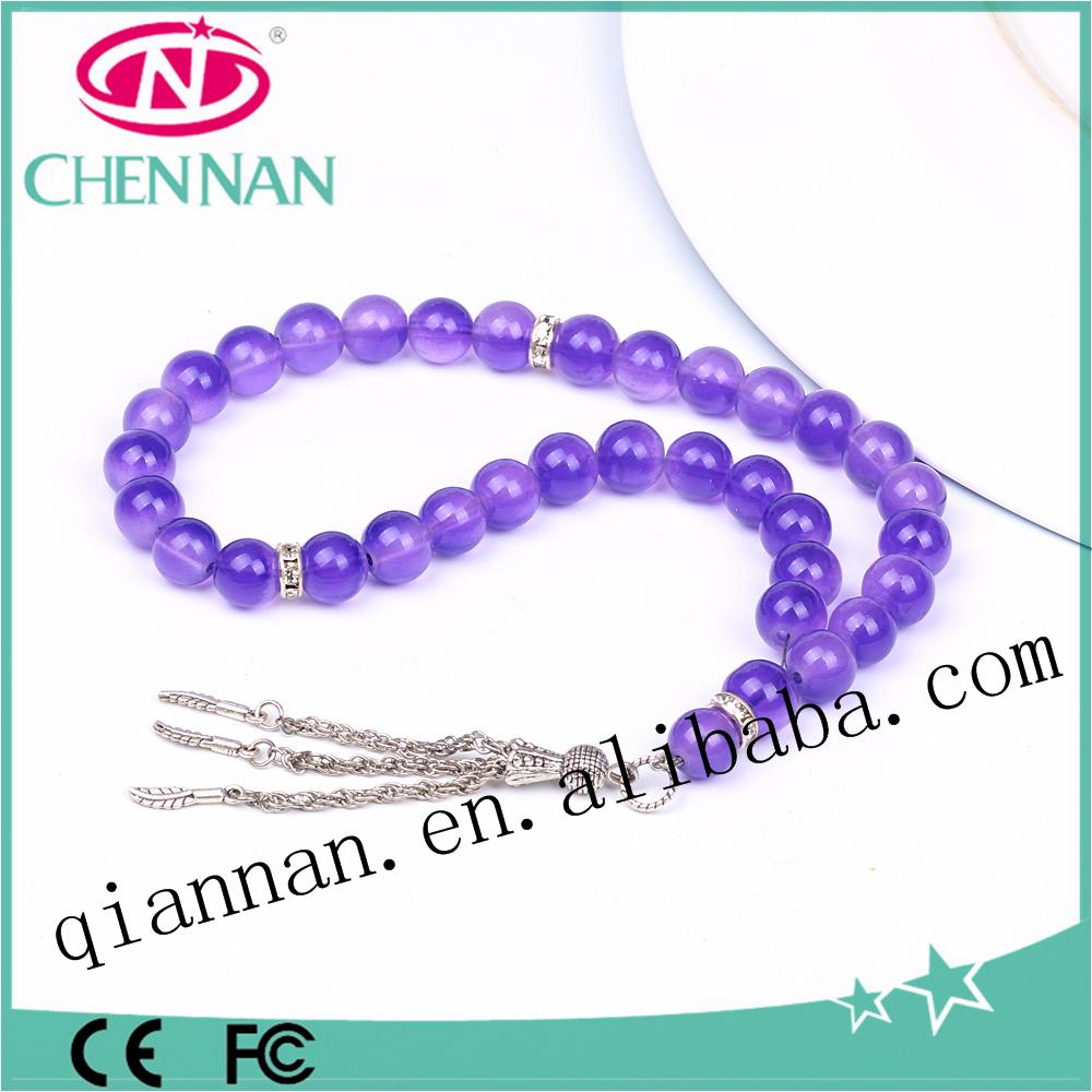 hot sale 10mm fashion smooth round bead allah muslim tasbeeh prayer beads