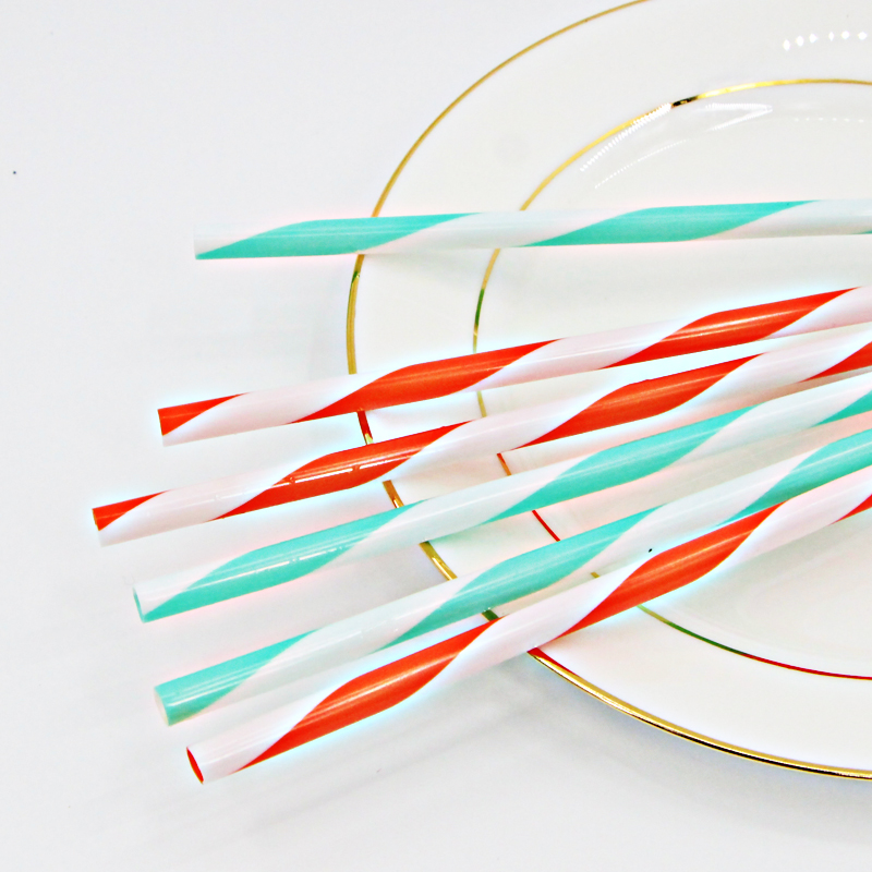 Wholesale high quality multipurpose colored striped plastic straw
