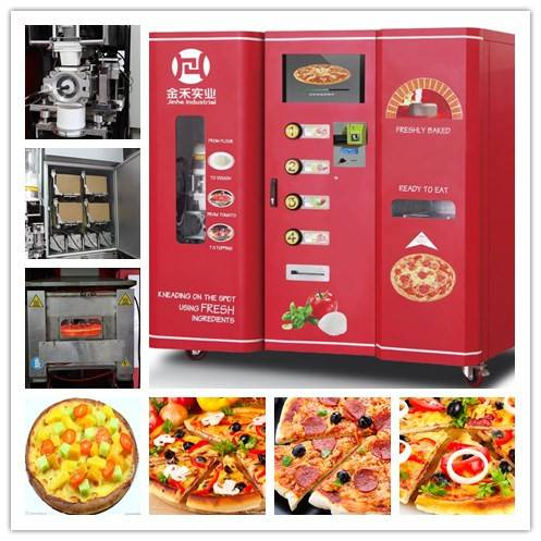 how does pizza vending machine work