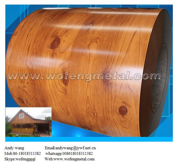 Prepainted steel coil/wooden color coated steel