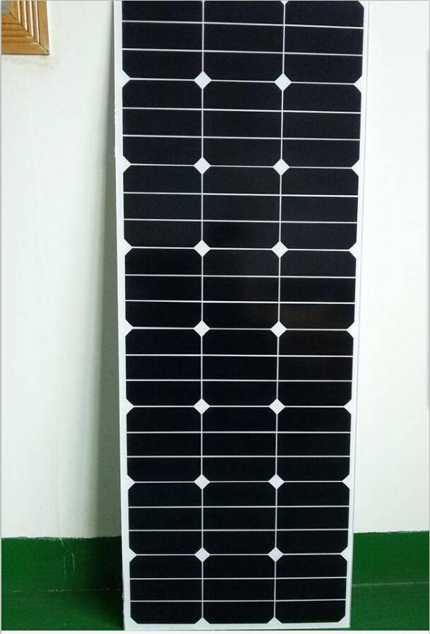 80W monocrystalline silicon sunpower solar panel