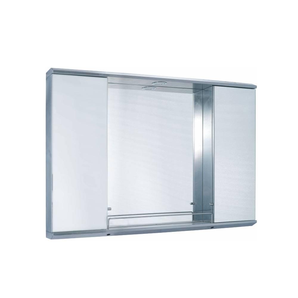 Double-door mirror cabinet