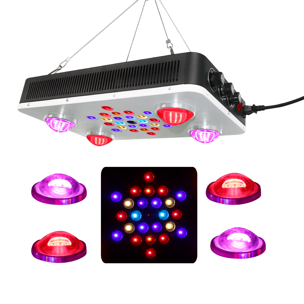 Vertical farming led grow light BR435 525w with dual chip 5w leds & 100w COB led grow light