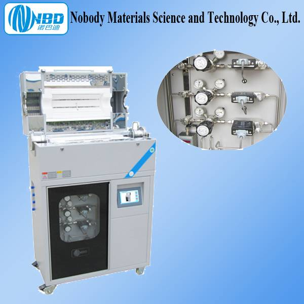 1200 Three-channel CVD Vacuum 80 Mm Tube Furnace with A Gas Mixing System