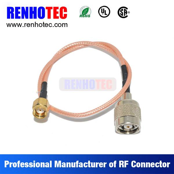 N Type to SMA Coaxial Wire Rope Connectors Custom Cable Assembly