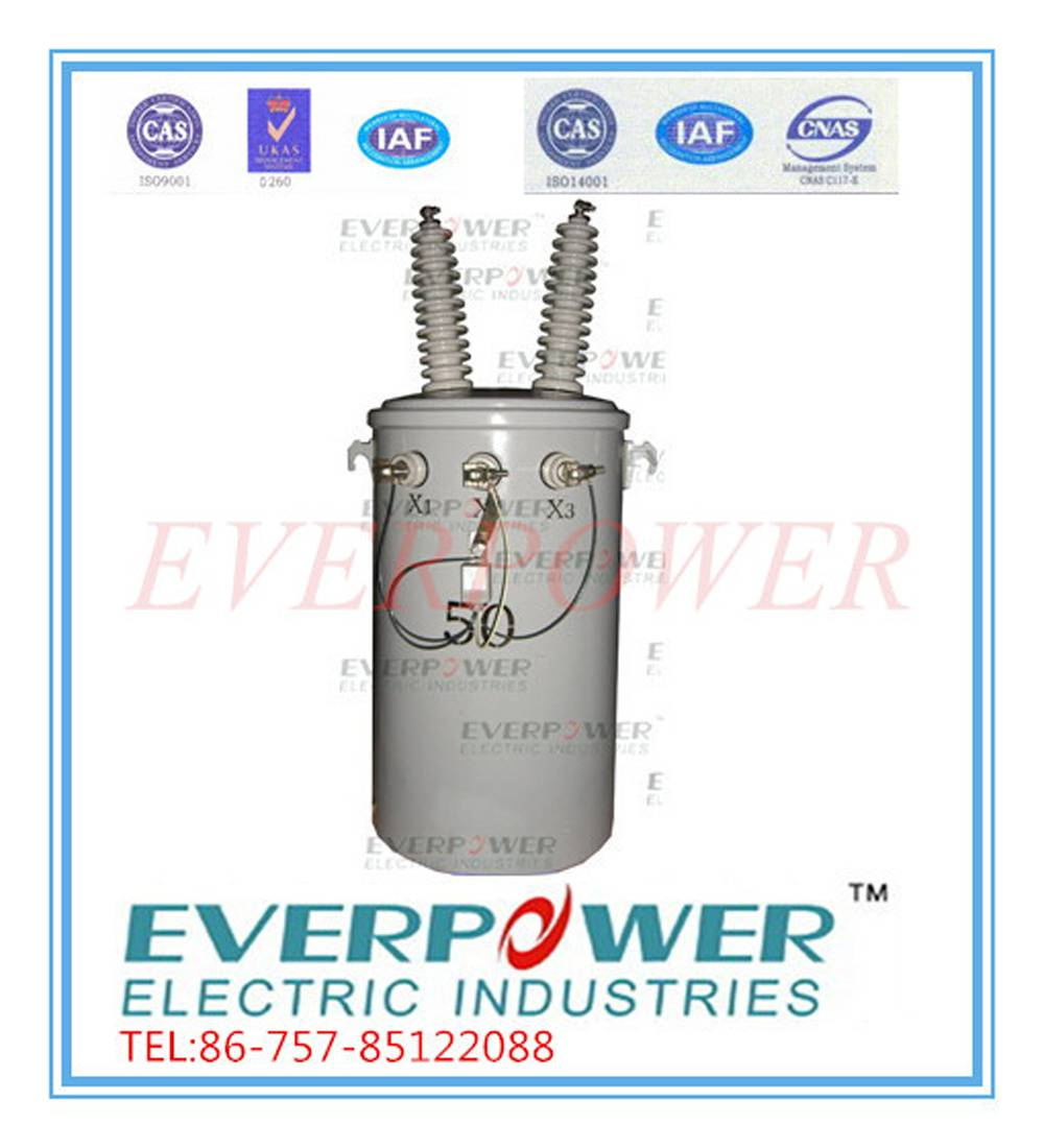 Single phase pole mounted transformers 34.5 GrdY/19.92 kV