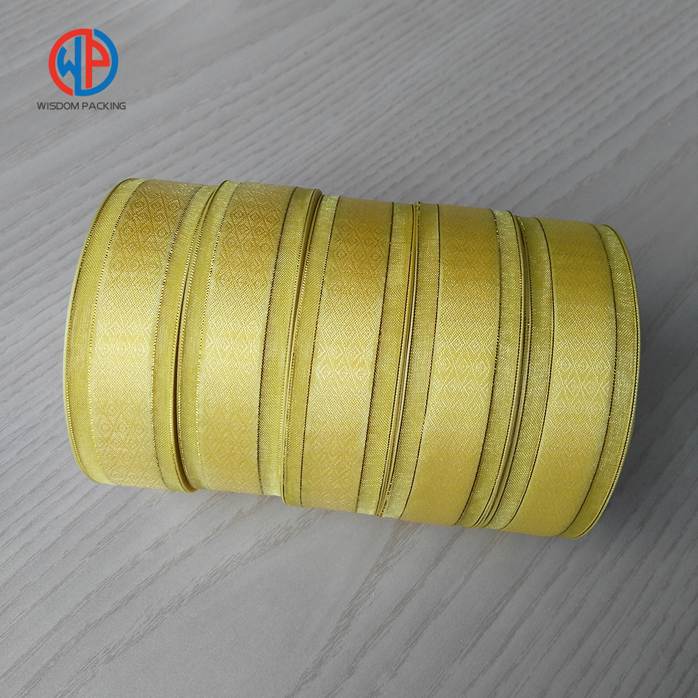 Wholesale polyester organza ribbon with satin center