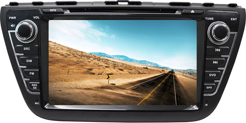 Car GPS DVD player for Suzuki sx4s-cross 2014-2015, android system 8 inch BT navigation 1+16GB
