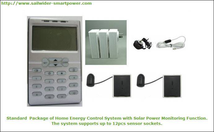 Wireless Electricity Energy Monitoring and Control System with Home Solar Power Monitoring Function