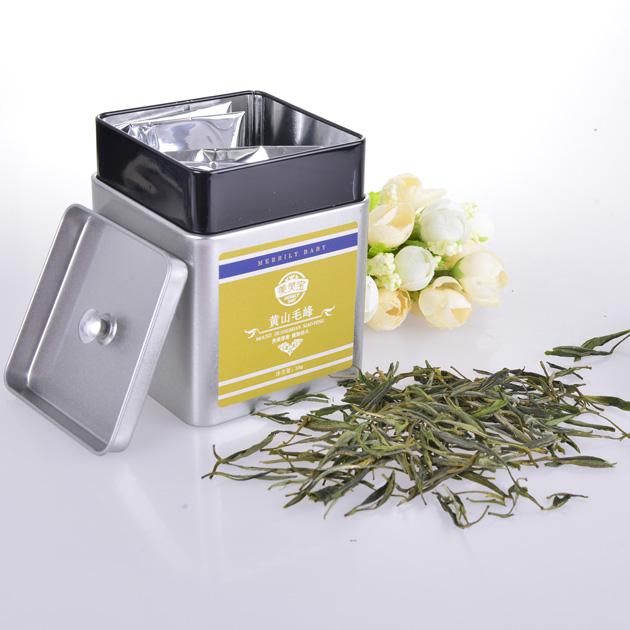 Organic Chinese tin premium green tea