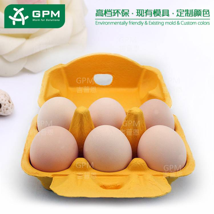 Waterproof paper pulp egg tray