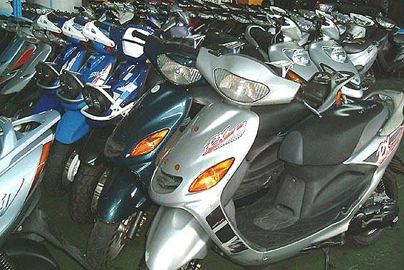 used scooter, spare parts and accessories