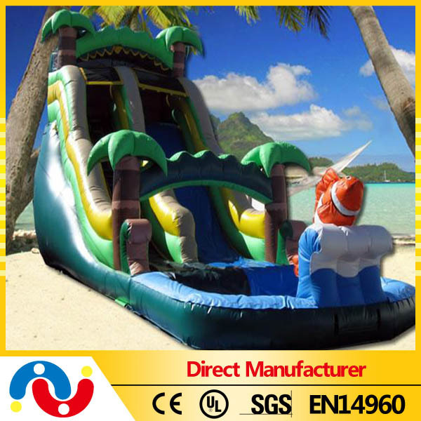 large jungle inflatable slide with pool water slide hot sale