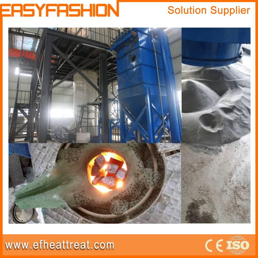 Double crucible melting furnace metal powder Gas atomizing equipment