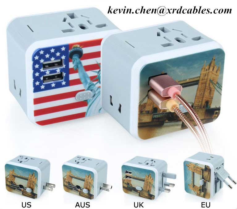 Travel Plug Adapters All in 1 Travel Adapter Worldwide Universal Socket Converter Plug Adapter Head