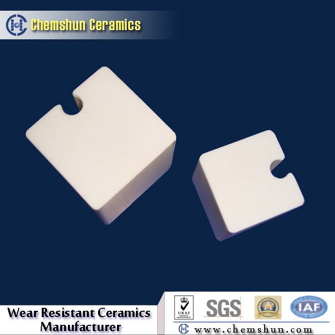 High Wear Resistant Alumina Ceramic Block Cube as Abrasion Materials