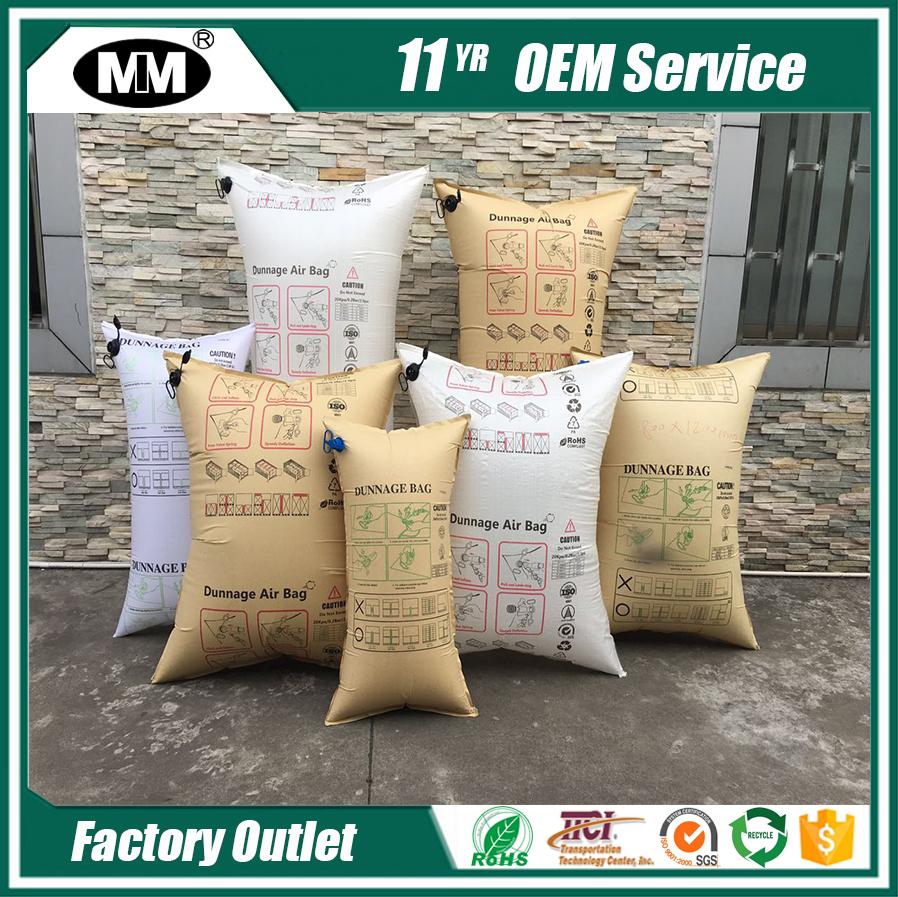 Cargo air bag Brown kraft paper bags with air gun