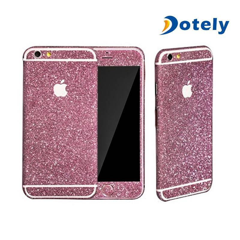 Mobile Phone Skin Stickers Glitter Sticker Cover for iPhone