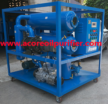 Transformer Oil Dehydration and Degassing Process Machine
