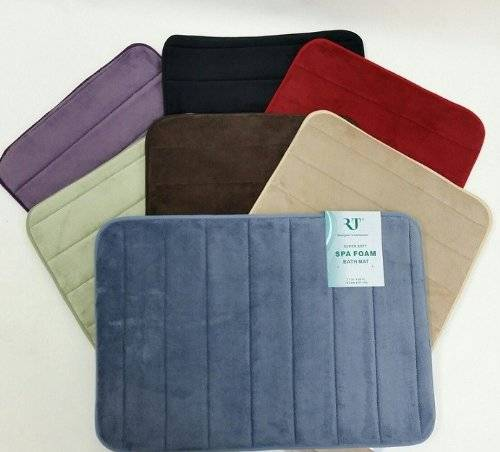 Slowly-recoverable Mircodry Memory Foam Bath Mats