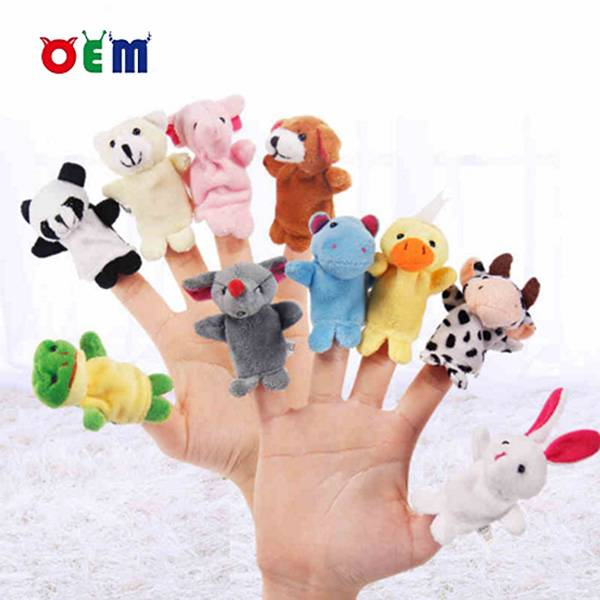 Kids Custom Stuffed Animal Plush Finger Puppets