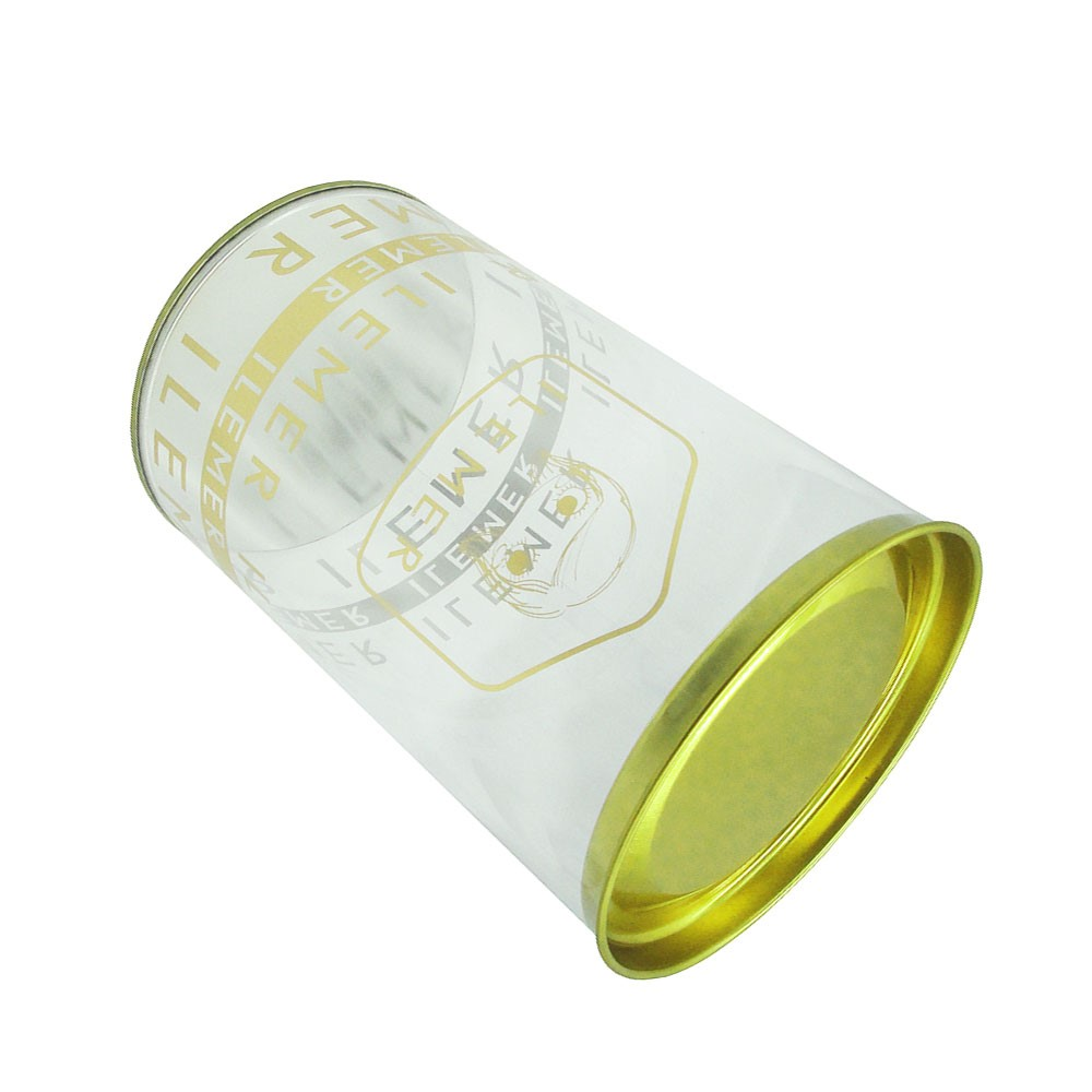 Logo designed Clear plastic foil stamping tube packaging with cover