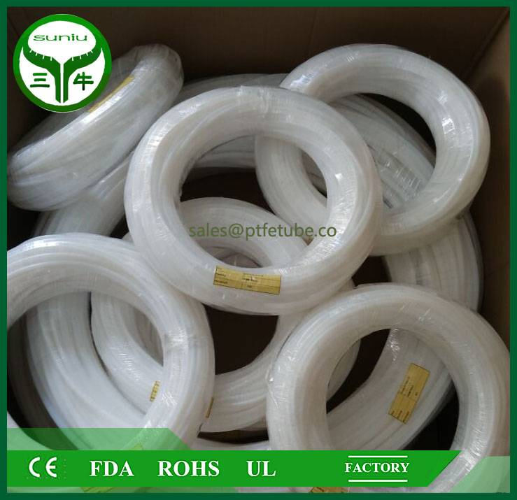 4mm ptfe tube / teflon bush , ptfe convoluted tube pipe hose tube / suniu