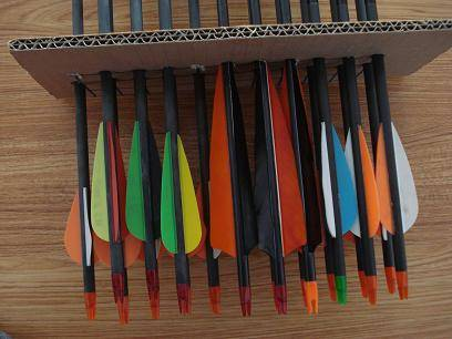 """20"""" crossbow arrows, hunting feather arrow, OEM Bow Hunting Carbon Arrows"""