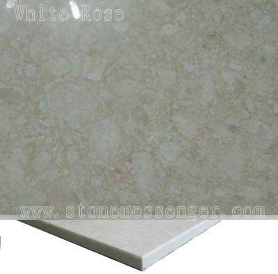 Promotion Compounded Marble Panel-white Rose Laminated With Ceramic