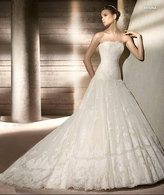 Goingwedding Strapless Tulle Skirt Ball Gown Corset Wedding Dresses ...
