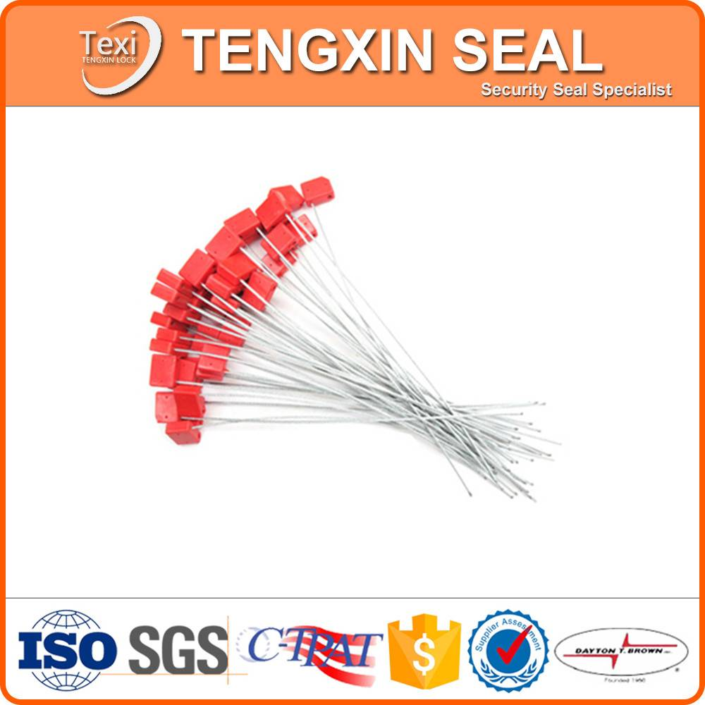 Shipping vessel container cable seals lock