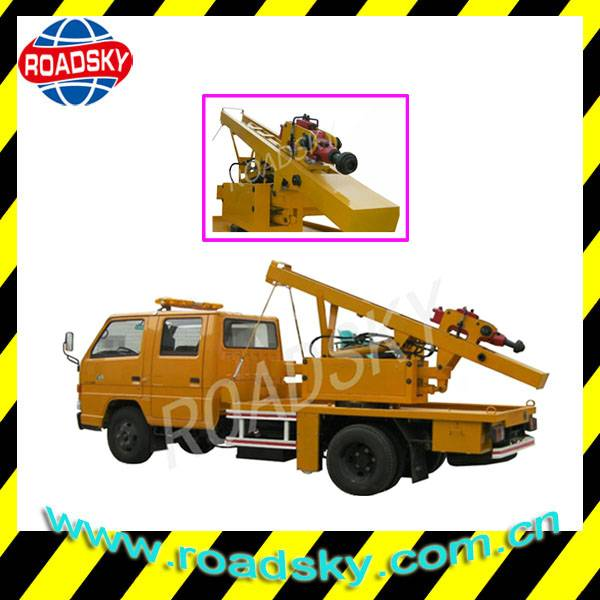 Highway Hydraulic Pile Driver Machine for Post Installation