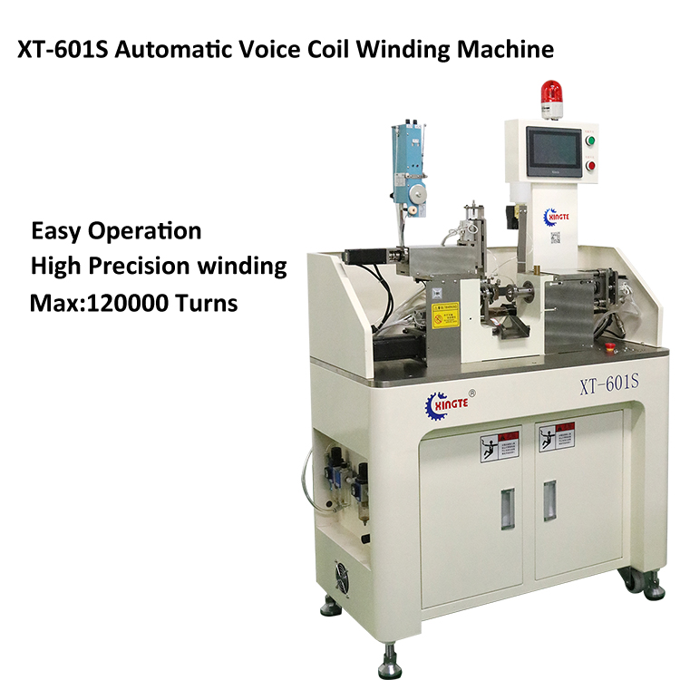 Single spindle hollow coil cnc automatic speaker voice wire tension fully auto coil winding machine