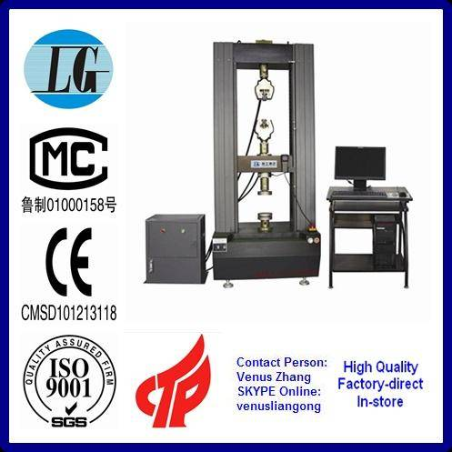 Electronic universal testing machine for glass fiber reinforced plastics