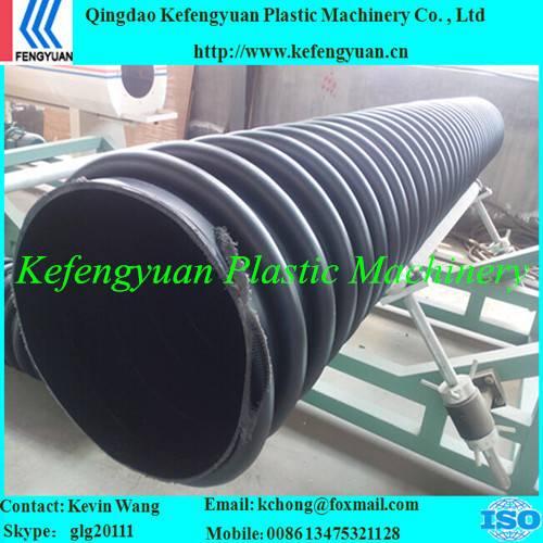 B type structure wall corrugated krah carat pe hdpe pipe tube manufacturing machine