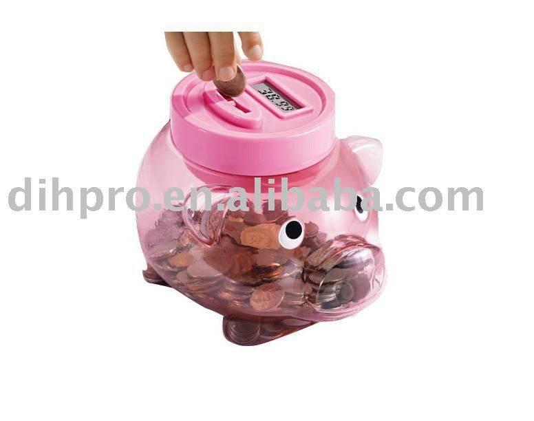 Pig money saving jar