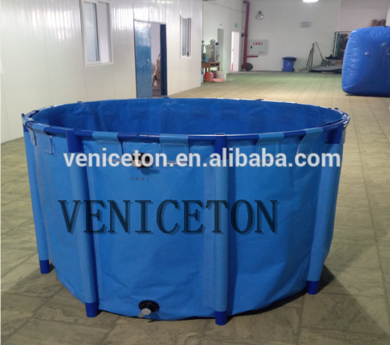Flexible custom size fish tanks made in PVC coated