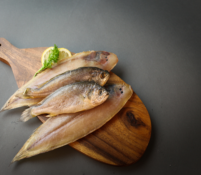 Gold Tongue Sole(Foreign), Yellow Corvina(Korean) Set No.2 Korean Fishes Korean Seafood Grilled Fish