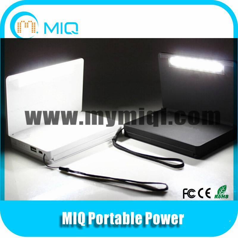 MIQ foldable solar power bank solar charger with solar light 6000MAH