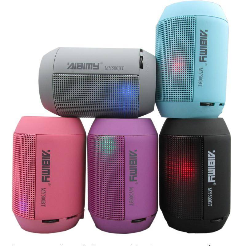 Mini Bluetooth LED Speaker MY500BT Portable Wireless Speaker with LED Lights Support TF Card