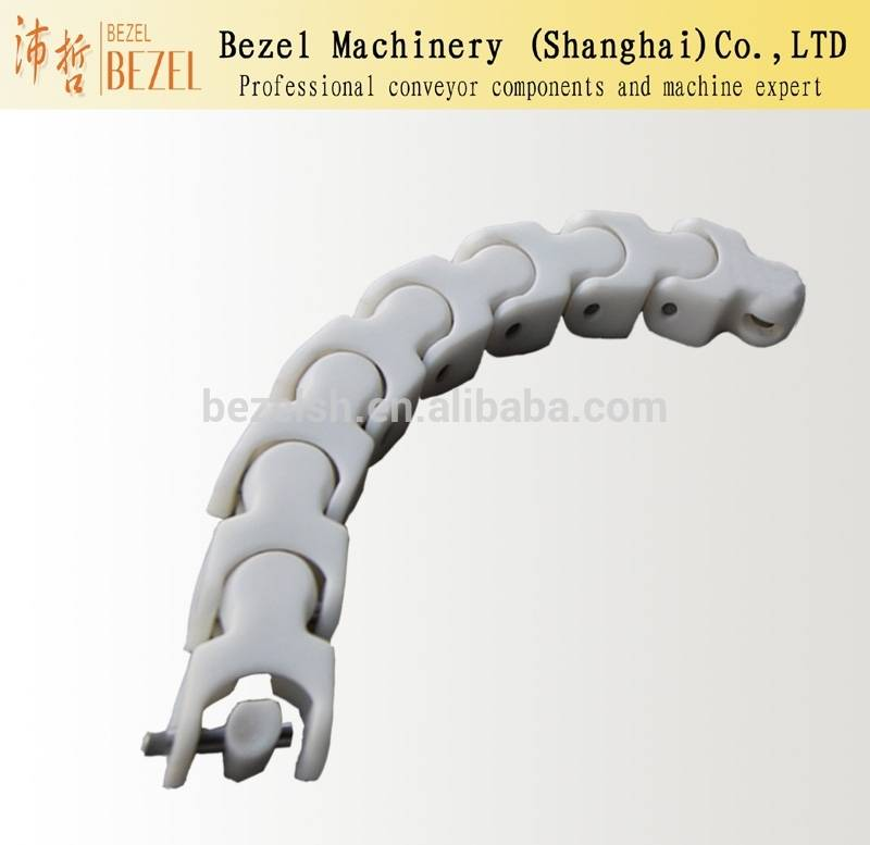 Plastic multiflex salt conveyor chain flat top chain