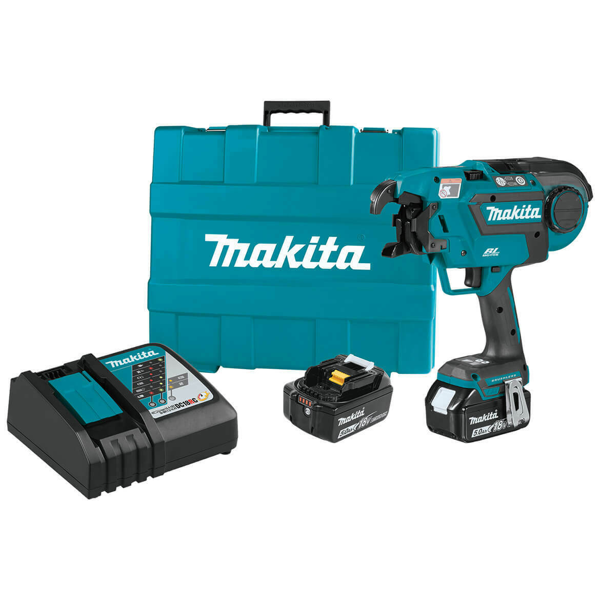 XRT01TK 18-Volt 5.0Ah Brushless Cordless Rebar Tying Makita Tool Kit