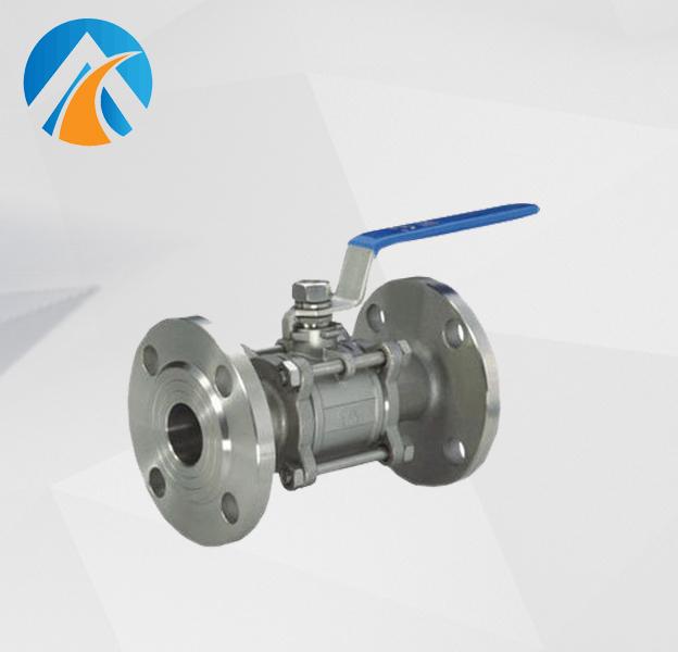 Sanitary stainless steel flange ball valve